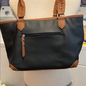 Rosetti Bags - Rosetti black trimmed in brown purse.